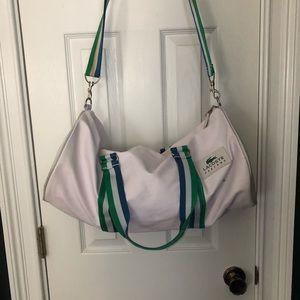 Lacoste vintage style duffel bag
